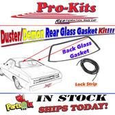 70 71 72 73 74 75 76 Duster, Demon, Dart Sport Rear Glass Window Gasket w/Lock Strip