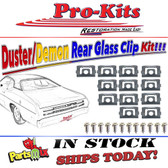 70 71 72 73 74 75 76 Duster 71 72 Demon 73 76 Dart Sport Rear Glass Window Reveal Molding Clip Kit