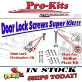 66 67 68 69 70 Charger Roadrunner Coronet GTX Super Bee Satellite Door Latch & Jamb Striker Screw Kit