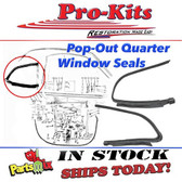 70-76 Duster, Demon & Dart Sport Quarter Pop Out Window Seals (Pair)