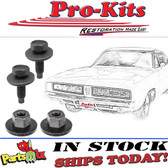 1968 70 Charger Front Bumper Guards to Bumper & Crossbar Bolt Kit