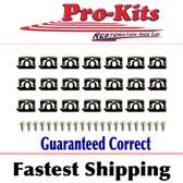 68 69 70 Charger Rear Window Molding Clip Kit w/Screws