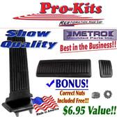 67 68 69 70 Roadrunner Charger GTX Superbee B Body Gas Pedal, Auto Brake & E Brake Pad Kit