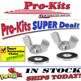 """""""Solid"""" Stainless Steel Wing Nuts, w/Washers for Air Cleaners   440-6 426 Hemi 440 383 Pair"""