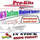 MOPAR 68 69 Cuda Barracuda Windshield Weatherstrip Gasket Seal