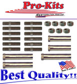68 69 70 71 C-Body Newport Imperial New Yorker Fury Monaco 383 440 HP Exhaust Manifold Bolt Kit