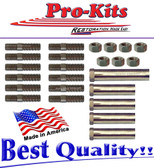67 68 69 A Body Dart Barracuda 383 440 HP Exhaust Manifold Stud Nuts Kit Barracuda Dart