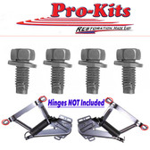 71 72 73 74 Bbody Charger Road Runner Satellite & Late 70-74 E Body Hood to Hinge 4pcs.