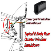 70-74 Cuda Challenger E-Body Rear Quarter Window Channel