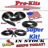 Doors Roof Rails & Trunk Lid Basic Weatherstrip Gasket Seal Kit for 66 67 Dodge Charger