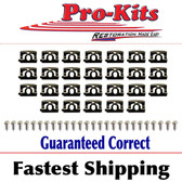 Rear Window Molding Clip Set 68 69 Barracuda Fastback
