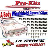 Winshield Molding Clip Kit 70 71 72 73 74 75 76 Duster & 71 72 Demon & 73 76 Dart Sport