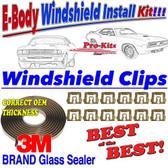 71 72 73 74 Cuda Barracuda Challenger Windshield Sealer Gasket Tape Kit
