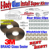 70 Cuda Barracuda Challenger Windshield and Rear Glass Sealer & Clip Kit