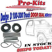 72-77  Dodge Trucks DOOR WEATHERSTRIP SEAL KIT