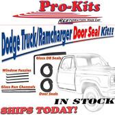 80-93 D100-450 W100-350 Ramcharger Trailduster Front Door Weatherstrip Seal Kit