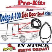 64-70 DODGE A-100 & A-108 Van Weatherstrip Side Door Pair