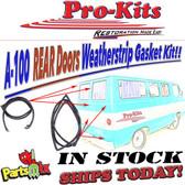64-70 A100& A108 Van Truck Rear Door Rubber Weatherstrip Pair