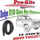 68-74 DODGE D100 Pickup Truck  A 100 108 Van & other trucks Glass Run Channel Fits: LH or RH