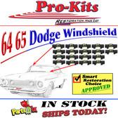 1964-1965 DODGE 330 440 Belvedere Savoy, '65 Coronet & Satellite Windshield Reveal CLIP KIT