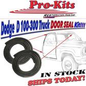 78-93 Dodge Truck D100 D150 W150 Ramcharger Trailduster Door Gasket Weatherstrip Pair