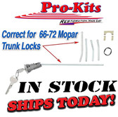 Mopar 66 67 68 69-72 Key Trunk Lock Charger Roadrunner Dart Duster A B body