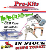 Mopar 70 71 72 Plymouth Barracuda Cuda AAR Trunk Lock Kit with 2 OE Correct Keys