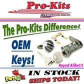 71-72 Challenger Cuda Glove & Trunk w/OEM Keys