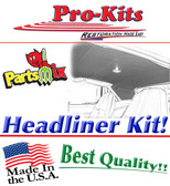 72 73 74 Charger 4 Bow Headliner Non-Perforated