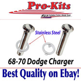 68 69 70 Charger Door Lock Knobs & Stainless Ferrule Door Panel Collars
