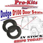 61-67 Dodge D W 100 200 300 Series Truck WEATHERSTRIP, DOOR, PAIR