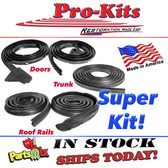 67 68 69 70 71 72 Dart Scamp Valiant 2 Door Hardtop Weatherstrip Kit. Not Fastback, Coupe, Notchback