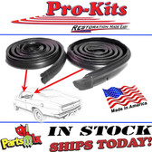 Molded Roof Rail Seals Kit. Fits 67-69 Barracuda Notchback and Fastback 2-Door Hardtop. Pair R&L