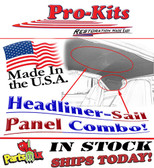 69 70 Road Runner Coronet Headliner Sail Panels Non-Perforated Combo Kit