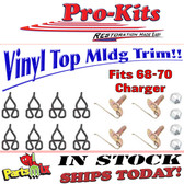 68 69 70 Charger Vinyl Top Clip Set