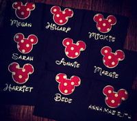 Personalized Mickey Mouse Tee- Red Dot
