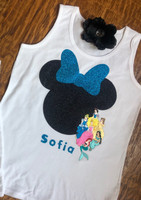 Personalized Disney Princess Tank or Tee