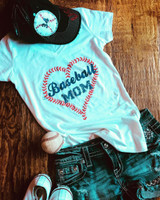 Baseball Mom Silk Screened Baseball Tee