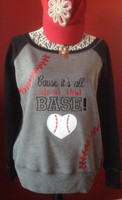 'Cause It's All About That Base Baseball Softball Seams Fleece