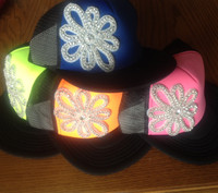 Blinged Neon Baseball Cap