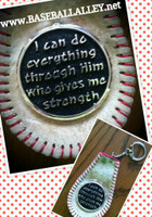 Philipians 4:13 Baseball Key Chain