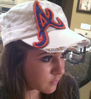 Blinged Atlanta Braves Hat