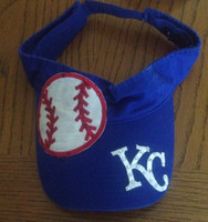 Blinged KC Royals Visor