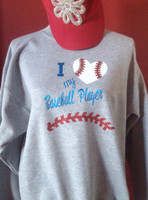 I Love My Baseball Ballplayer Crew neck sweat