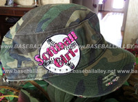 Softball Girl Military Style Camo Cap