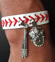 Bling Baseball Cap and Bat Bracelet