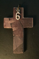 Football Cross Pendant with Player Number
