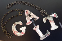 Baseball Initial Toggle Necklace