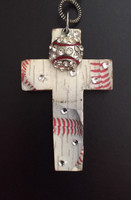 Bling Baseball Cross Pendant