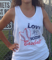 Love Me Some Baseball Bro Tank